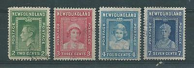 Newfoundland SG268-271 1938 Definitives Fine Used