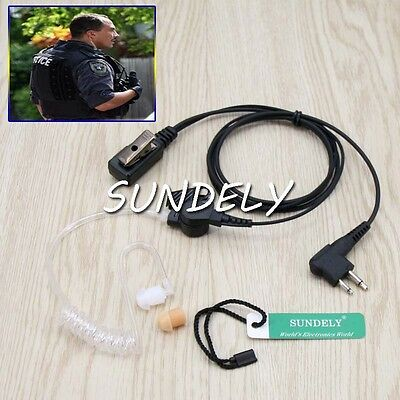 Clear Tube Security Headset for Motorola BearCom BC130 VL50 VL130 CLS1450C CP200