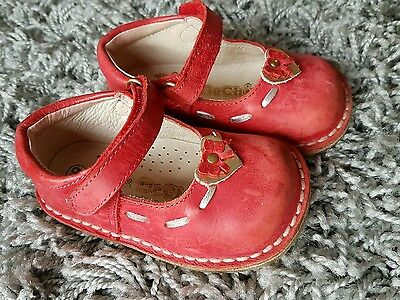 size 19 eu / size 3 uk - girls red leather spanish shoes