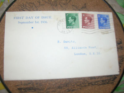 english first day cover september 1936