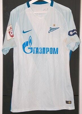 Zenit Peterburg (Russia) Match Worn Shirt Russian League Kokorin Unwashed