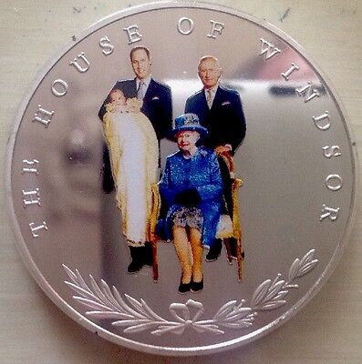 The  House Of Windsor Silver Coin Four GENERATIONS Of The British Royal Family