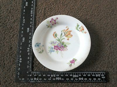Small Decorative Plate With Picture Flowers