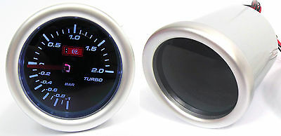 Smoke 52mm Boost Gauge 2 Bar Audi A3 S3 A4 A6 A8 TT with Turbo Engine
