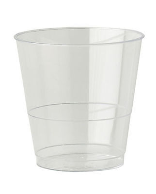 40 x 8oz Clear Plastic Strong Mixer Glasses Cups Disposable - Juice Wine Whisky