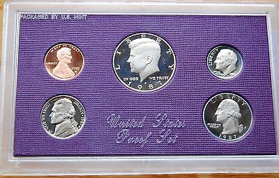 USA United States 1987 5 Proof Coin Set With Outer Wrapper #