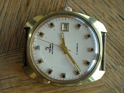 Vintage YEMA AUTOMATIC  France Ebauches FE Cal. 3611 for parts.