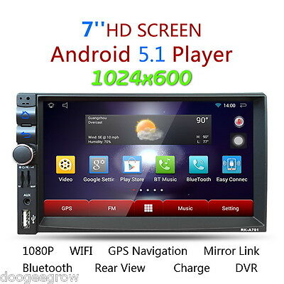 "7"" HD Android 4.4 Car Estéreo Reproductor 2Din GPS Media Player BT 3G WIFI FM AM"