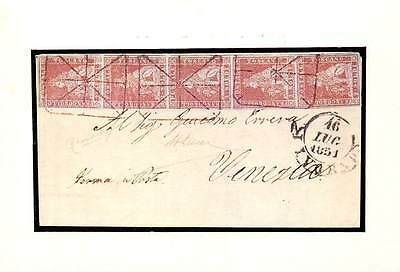 Reproduction of: Italy Tuscany, stamps, envelope 1851