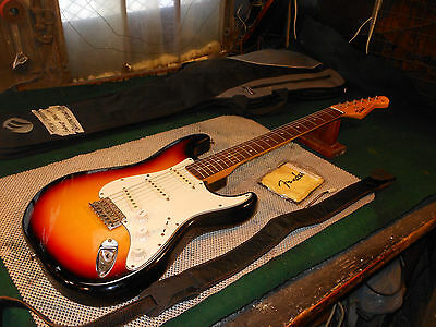Vintage Tokai Sunburst Stratocaster Cool 50's Electric Guitar w case Japan Made