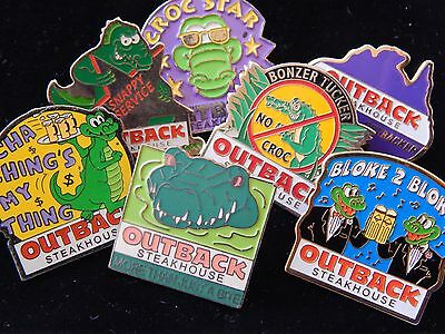 Outback Steakhouse Bonzer Beer Crocodile Alligator Employee Pin back Lot