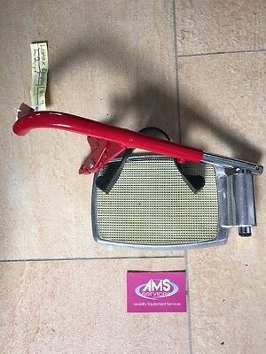 Lomax Remploy / Uni 9 Wheelchair Footrest / Foot Rest In Red, Left - L2