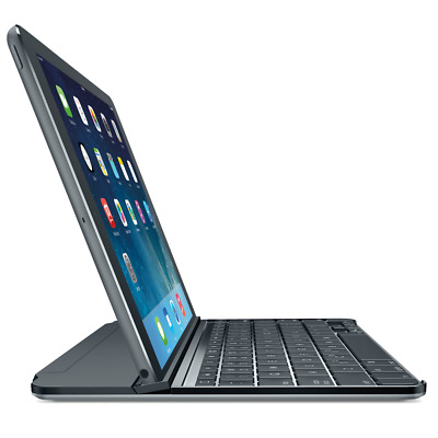 Logitech Ultrathin Magnetic Clip-on Keyboard Cover for iPad Air 1 Grigio Spazio
