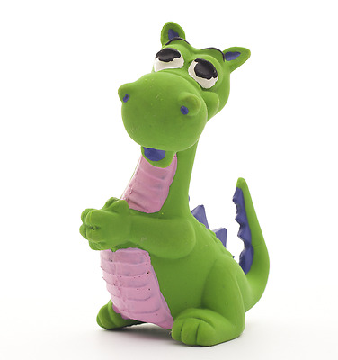 Natural rubber Toy  the Dragon Green by Lanco