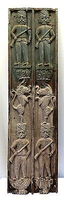 Neo Classical Wooden Polychrome Carved Panels Antique Carved Panels Vintage Old
