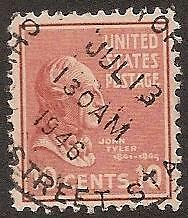 USA, SG 811, 1938  10¢ red, nicely dated cancellation 13 Jul 1946
