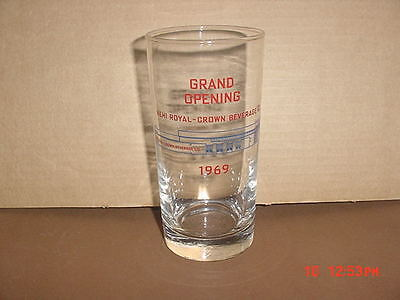 Royal Crown Cola Grand Opening Glass 1969