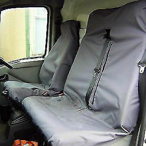 Ford Transit SWB MWB LWB Heavy Duty Waterproof Van Seat Covers Protectors Grey