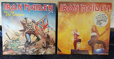 "Iron Maiden 7"" Singles - The Trooper & Running Free"
