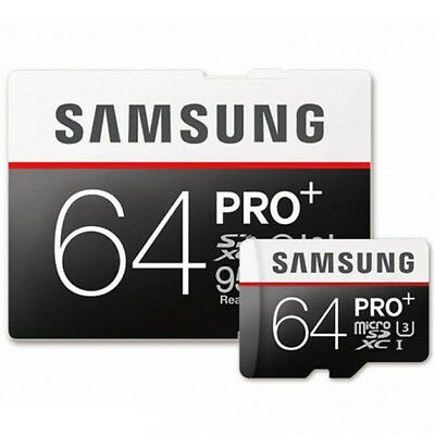 Samsung 64GB Pro Plus MicroSDXC Memory Card + Adapter Class 10 95MB/s UHS-I