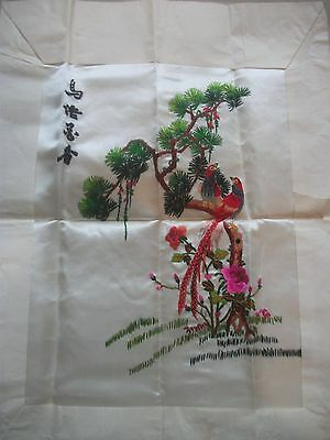 vintage oriental embroidery picture