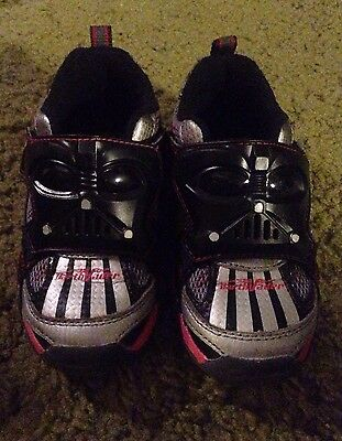 Star Wars Darth Vader Childs Strideright Shoes, Collector( Light Up ) Look !!