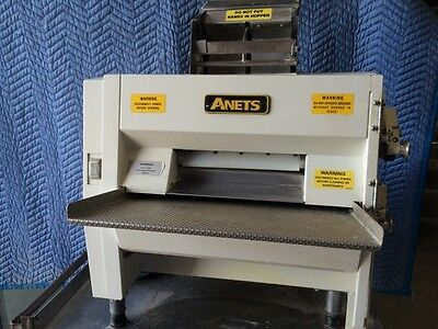 "Used Anets Commercial 21"" Dough Roller Model SDR-21 Metal Rollers Pizza Dough"