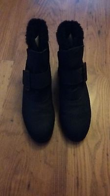 New Ladies Danexx Black Weather Resistant Ankle Boots. Uk Size 5.5 (8M)