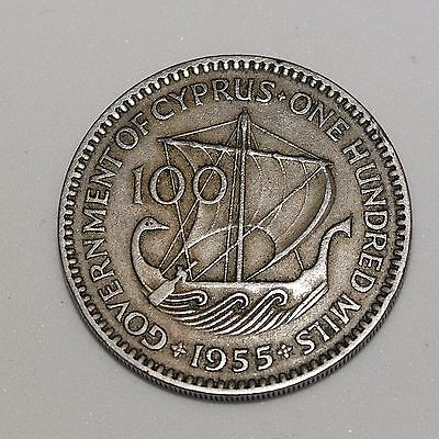 100 mils coin 1955 Government of Cyprus Queen Elizabeth the Second