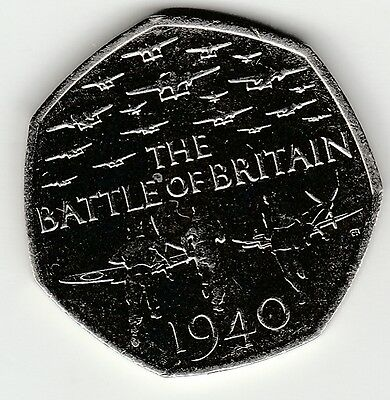 Battle of Britain COIN RARE FIFTY PENCE 2015