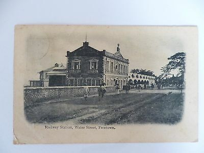 Railway Station, Freetown, used 1d stamp