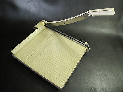 """USED BOSTON PAPER CUTTER / TRIMMER - 12""""x 12"""" LIGHTWEIGHT PORTABLE Sharp"""