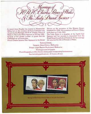 1981 Charles And Diana Booklet With 2 Stamps