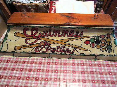 Guinness Pool Table Light-Stain Glass Effect-Snooker-Beer-Hanging-Superb