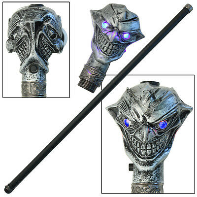 Two Faced Evil Joker Dark Realm Cane Walking Stick