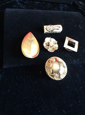 Lot Of 5 Vintage Scarf Clips