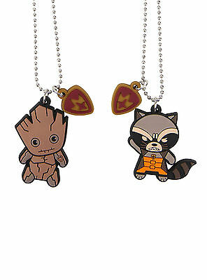Marvel Guardians of the Galaxy Groot & Rocket Kawaii Necklace Friendship BFF NWT