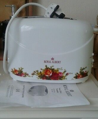 Royal  Albert  Old  Country  Roses Electric Toaster unused with instructions.
