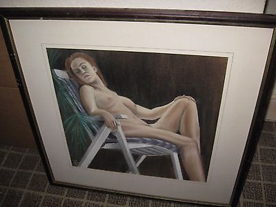 panting of a nude woman in frame ,,this is signed