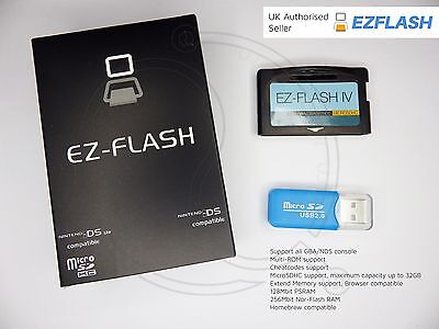 EZ-Flash IV 4 Official New & Boxed Latest Game Boy Cart, GBA SP, DSL UK  gameboy