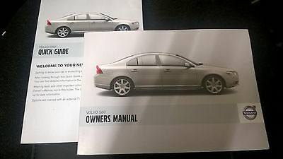 Volvo S80 owners manual and quick start guide. Mint