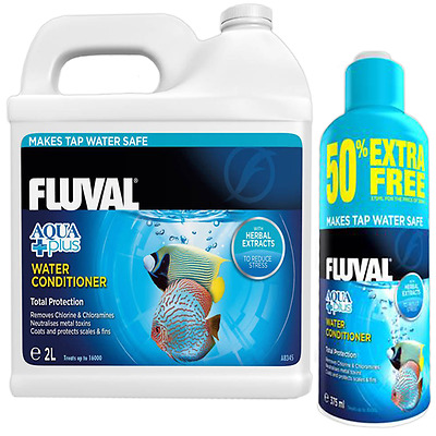 Fluval Aquaplus Tap Safe Aquarium Water Conditioner - 375ml & 2L