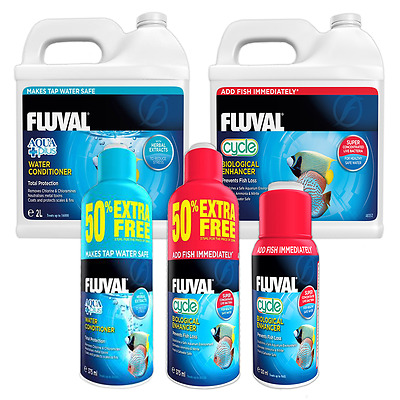 Fluval Cycle Biological Enhancer Aquarium Treatment & Aquaplus Water Conditioner