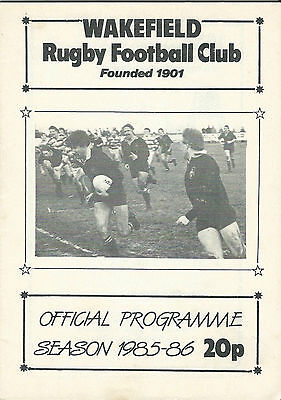 WAKEFIELD RUGBY UNION v NOTTINGHAM JP CUP 3 1985-86