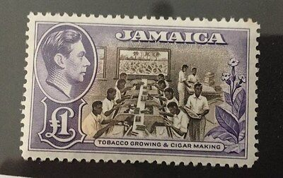 Jamaica 1938 £1 lightly mounted mint