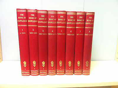 Collection Job Lot of The Book Of Knowledge Volume 1 - 8 Complete, Pub: Waverley