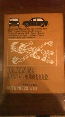 Hillman Imp  Workshop Manual 1969-71 Autobook. Hardback