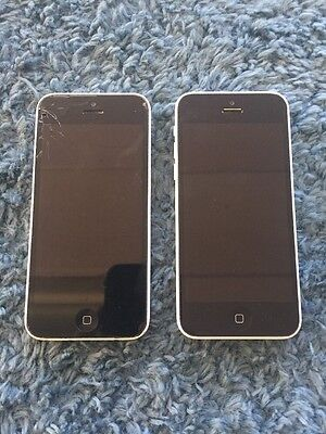 Lot Of Two iPhone 5c White A1532 For Parts