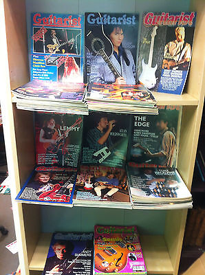Collection of Guitarists Magazines, Includes Vol 1 No 1, 1984-88 Consecutive