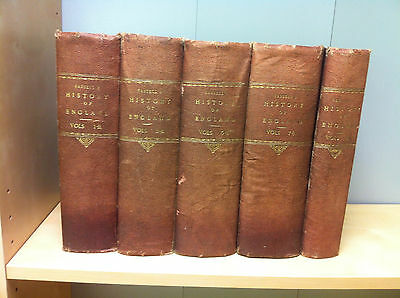 Collection Job Lot of History of English Books Vol 1-9 Complete, Circa 1873